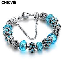 colored charm bracelet images Buy chicvie blue crystal charm friendship jpg