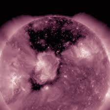 enormous black spot on the sun detected in our star u0027s atmosphere