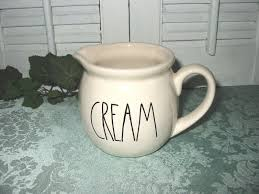 rae dunn magenta creamer pottery ivory handled cream new