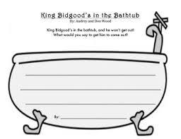 Bathtub Books King Bidgood U0027s In The Bathtub Writing Activity Go To Audrey Woods