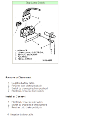 gmc brake light switch replacement how do you replace the brake light switch on 1995 chevy 1500