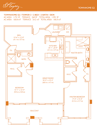 Townhome Floor Plan by St Tropez Townhome Floorplans