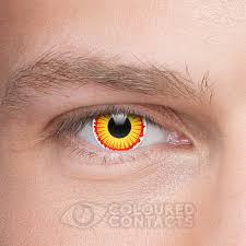 halloween vampire contacts david lost boys 90 days yellow coloured contact lenses spooky