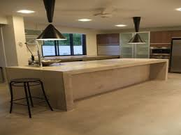 How To Build A Concrete Bar Top Kitchen Countertop Options Concrete Countertop Mix Kitchen