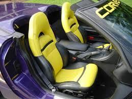 98 corvette parts corvette seat cover pace car leather yellow and black