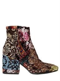buy boots worldwide shipping strategia 70mm brocade velvet ankle boots luisaviaroma
