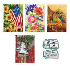halloween yard flags seasonal garden flag bundle rolling t stores