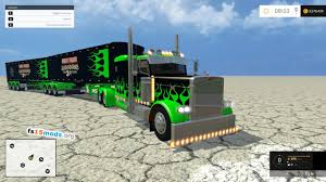 monster jam peterbilt trucks trailers pack fs15 mods