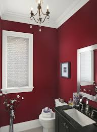 interior pleasing red and white bathroom interior with mini
