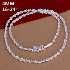 silver necklace sale images Best sale friendship necklace for bride sterling silver jewelry jpg
