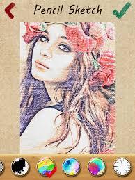 pencil sketch 2 draft effects u0026 draw fx color foto now app