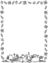 black and white thanksgiving border picasa