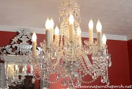 Cheap Fake Chandeliers Transform An Ordinary Chandelier With Resin Candle Covers And Silk