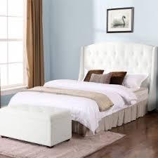 bedroom taupe velvet queen tufted headboard