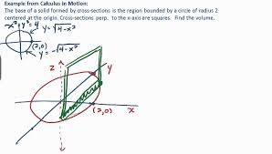 calculus volume by cross section exle 1