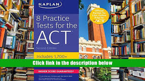 ebook 8 practice tests for the act includes 1 728 practice