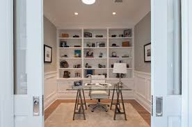 Wainscoting Office Contemporary Home Office With Wainscoting U0026 Crown Molding Zillow