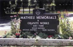 family memorials of canton wecome mathieu memorials a family owned monument company