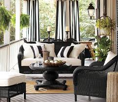 Black And White Stripe Curtains Decorations Spacious Outdoor Living Room Design With Vertical