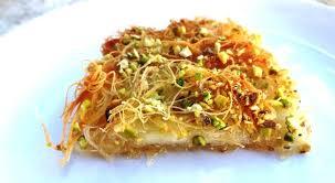 cuisine jordanienne recette du knaffeh gâteau aux cheveux d ange au fromage jordanie