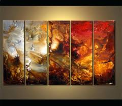 5 piece canvas wall art hand painted palette knife oil multiple panel wall art oil painting on canvas wall pictures