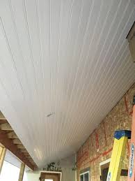 Exterior Beadboard Porch Ceiling - veranda 1 in x 6 in x 8 ft pvc beaded ceiling wall board 208074