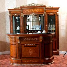 Antique Bar Cabinet Furniture Furniture Antique Bar Cabinet And Mirrored Wall Shelves For Home