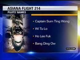 Sum Ting Wong Meme - fake asiana pilot names know your meme