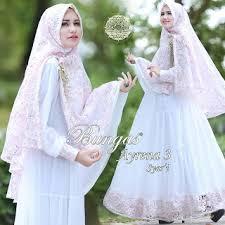 wedding dress syari ayrena 3 syari by bungas supplier gamis syari branded pusat