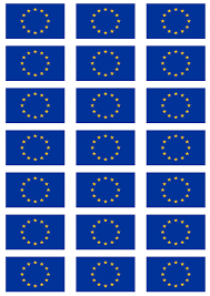 European Flags Images European Union Flag Stickers 21 Per Sheet