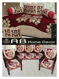ab home decor ab home decor combo of leaf design diwan set and sofa cover sets