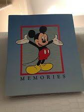 mickey mouse photo album mickey mouse school days memories scrapbook memory photo book