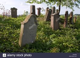 cemetery stones grave stones in a cemetery seesen lower saxony germany
