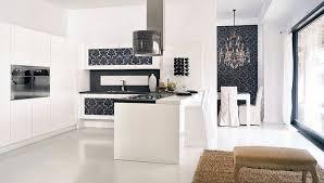 modern kitchen wallpaper ideas kitchens brilliant kitchen with wallpaper and white modern