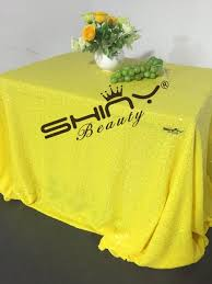 table linen wholesale suppliers aliexpress com buy sale 50 x50 yellow sequin tablecloth