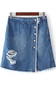 denim skirts blue hem button up distressed denim skirt skirts maxi skirt