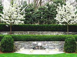 simple garden wall fountains ideas with small garden pool small
