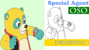 oso drawing how to draw oso from special agent oso youtube
