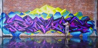 Cheap Spray Paint For Graffiti - graffiti artists create graffiti paradise when given an empty