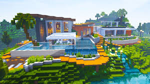 Modern Hous by Minecraft Maps Riverside Modern House Youtube