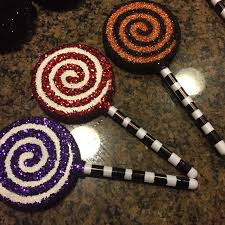 s of diy nightmare before glitter lollipop ornaments
