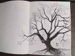 old tree sketch done with a pen by tylersartshack on deviantart