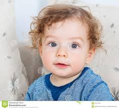 haircuts for little boys with curly hair baby boy with curly hair stock photo image 58792780