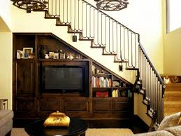 Small Space Stairs - decorations adorable under stairway entertainment center and
