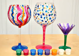 diy painted stemware