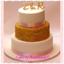 pink white gold wedding wedding cake white and gold with a touch of pink part 1 cake