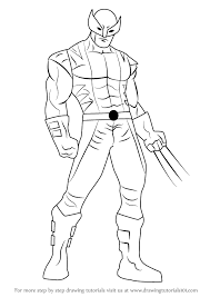 learn how to draw wolverine from x men x men step by step