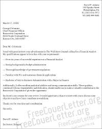 Sample Resume For Financial Analyst Entry Level by 11 Cover Letter Financial Analyst Doctors Signature