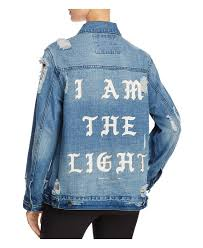 Light Denim Jacket Spiritual Gangster I Am The Light Denim Jacket In Blue Lyst