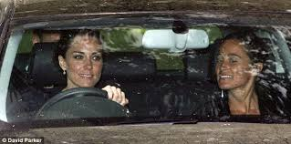 royal wedding 2011 kate middleton and pippa leave berkshire home
